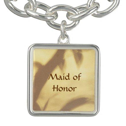 Asian Motif Maid of Honor Wedding Charm Bracelets