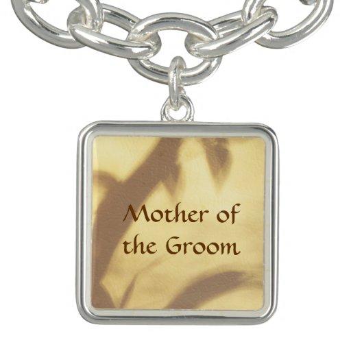 Asian Motif Mother of the Groom Wedding Charm Bracelet