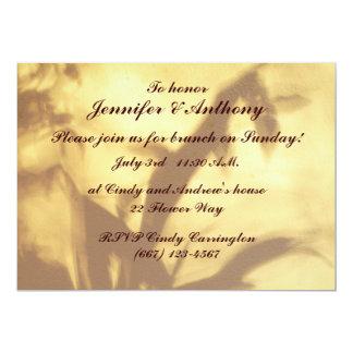 "Asian Motif Wedding Brunch 5"" X 7"" Invitation Card"