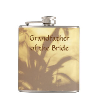 Asian Motif Wedding Grandfather of the Bride Hip Flasks