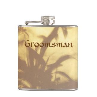 Asian Motif Wedding Groomsman Hip Flasks