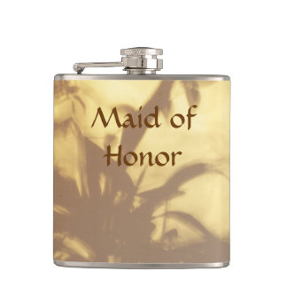 Asian Motif Wedding Maid of Honor Hip Flask