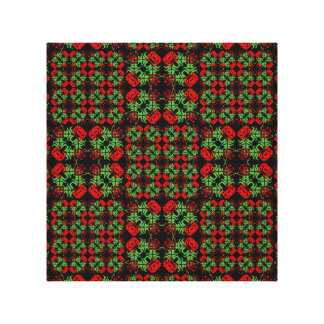 Asian Ornate Patchwork Pattern Canvas Print