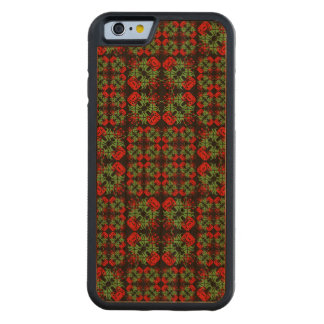 Asian Ornate Patchwork Pattern Carved Cherry iPhone 6 Bumper Case