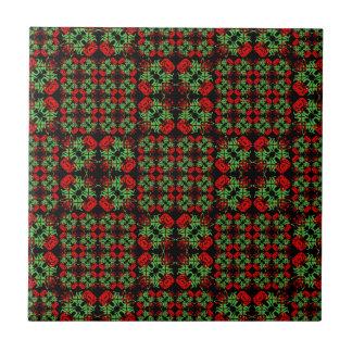 Asian Ornate Patchwork Pattern Ceramic Tiles