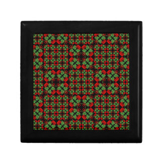 Asian Ornate Patchwork Pattern Gift Box