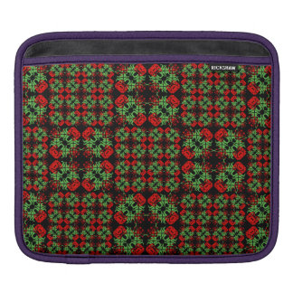 Asian Ornate Patchwork Pattern iPad Sleeve