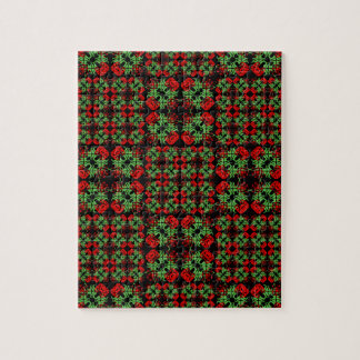 Asian Ornate Patchwork Pattern Jigsaw Puzzle