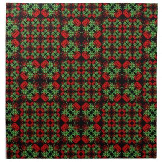 Asian Ornate Patchwork Pattern Napkin