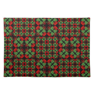 Asian Ornate Patchwork Pattern Placemat
