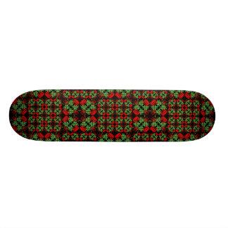 Asian Ornate Patchwork Pattern Skate Board