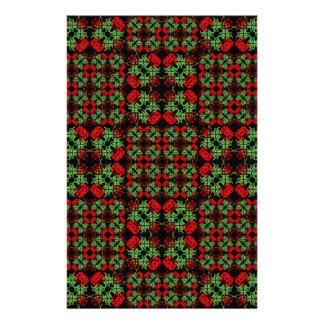 Asian Ornate Patchwork Pattern Stationery
