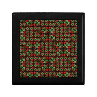 Asian Ornate Patchwork Pattern Trinket Box