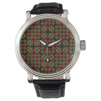 Asian Ornate Patchwork Pattern Watch