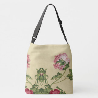 Asian Peony Flowers Shoulder Tote Bag