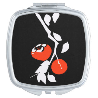 Asian Persimmon Compact Mirrors