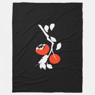Asian Persimmon Fleece Blanket