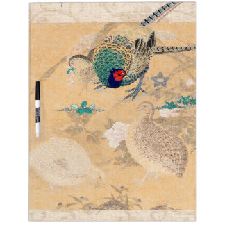 Asian Pheasant Birds Flowers Dry Erase Board