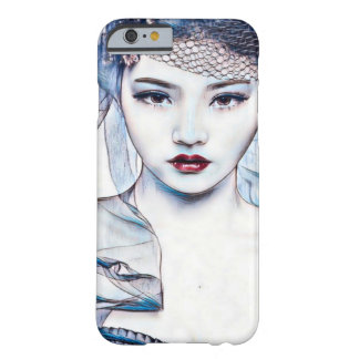 Asian Princess Beauty Watercolor Gouache Art Barely There iPhone 6 Case