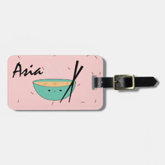 Asian Ramen kawaii soup luggage tag