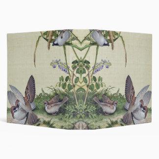 Asian Romantic Birds Wildlife Flowers Avery Binder