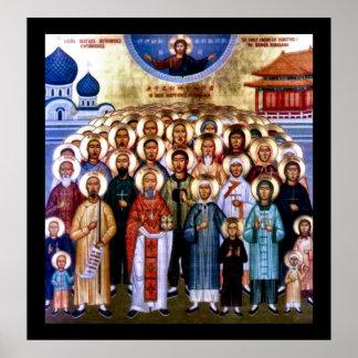 Asian Saints & Jesus Poster