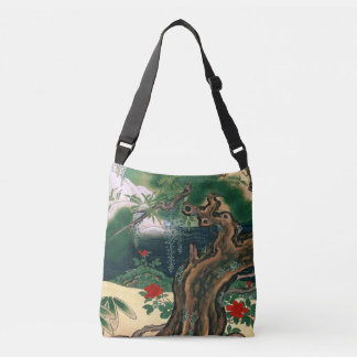 Asian Screen Wisteria Waterfall Bird Tote Bag