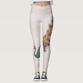 Asian Scroll Peacock Bird All Over Print Leggings