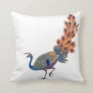 Asian Scroll Peacock Bird Animal Pillow