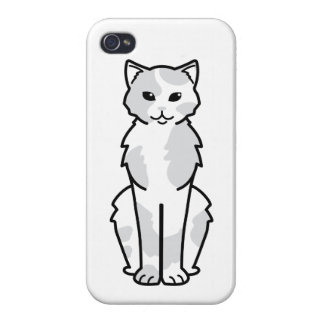 Asian Self & Tortie Cat Cartoon Cases For iPhone 4