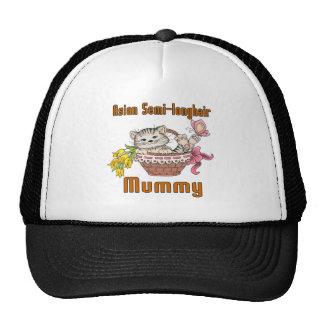 Asian Semi-longhair Cat Mom Trucker Hat