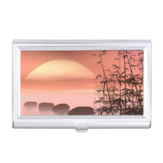 Asian steps to the sun - 3D render Business Card Holder