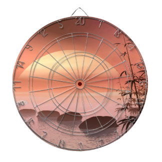 Asian steps to the sun - 3D render Dartboard