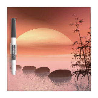 Asian steps to the sun - 3D render Dry Erase Board