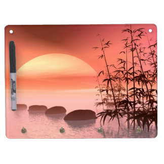 Asian steps to the sun - 3D render Dry Erase Board With Keychain Holder