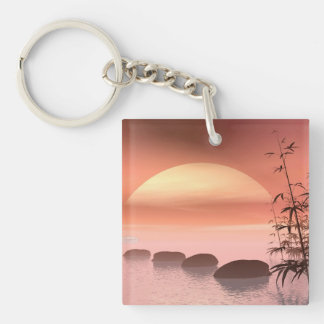 Asian steps to the sun - 3D render Keychain