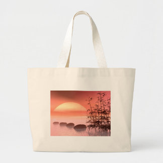 Asian steps to the sun - 3D render Large Tote Bag