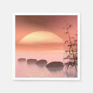 Asian steps to the sun - 3D render Paper Napkin