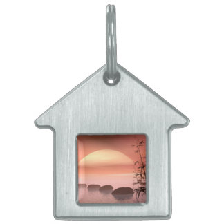 Asian steps to the sun - 3D render Pet ID Tag