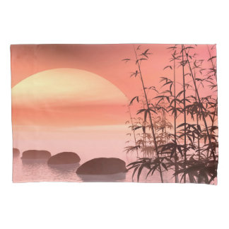 Asian steps to the sun - 3D render Pillowcase