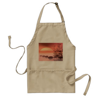 Asian steps to the sun - 3D render Standard Apron