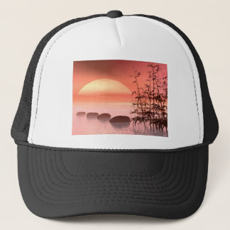Asian steps to the sun - 3D render Trucker Hat