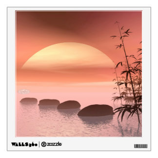 Asian steps to the sun - 3D render Wall Decal