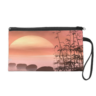 Asian steps to the sun - 3D render Wristlet