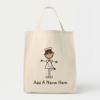 Asian Stick Figure Nurse T-shirts and Gifts Tote Bag