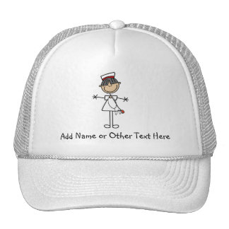 Asian Stick Figure Nurse T-shirts and Gifts Trucker Hat