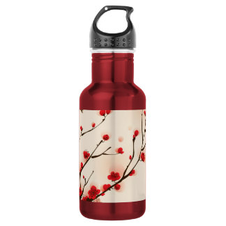 Asian Style Painting, Plum Blossom in Spring 532 Ml Water Bottle