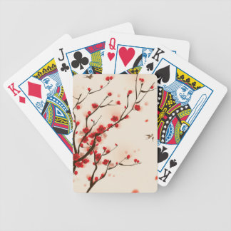 Asian Style Painting, Plum Blossom in Spring Bicycle Playing Cards