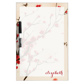 Asian Style Painting, Plum Blossom in Spring Dry Erase Board