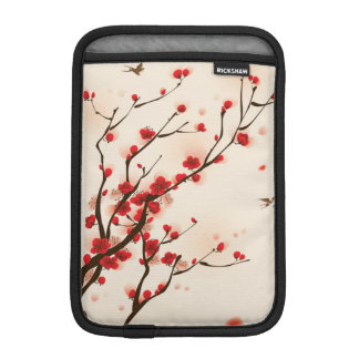 Asian Style Painting, Plum Blossom in Spring iPad Mini Sleeve